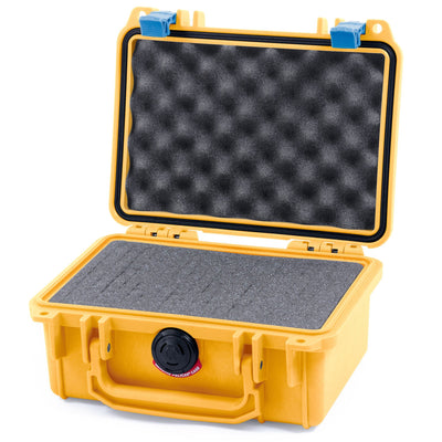 Pelican 1120 Case, Yellow with Blue Latches - Pelican Color Case