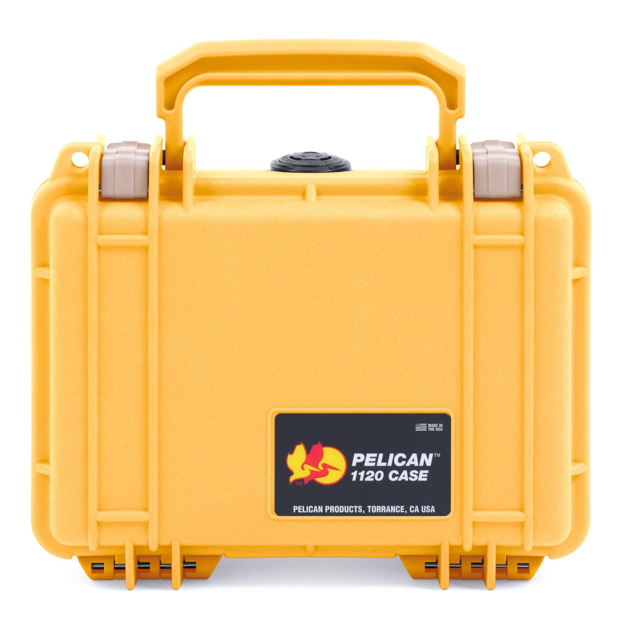 Pelican 1120 Case, Yellow with Desert Tan Latches - Pelican Color Case