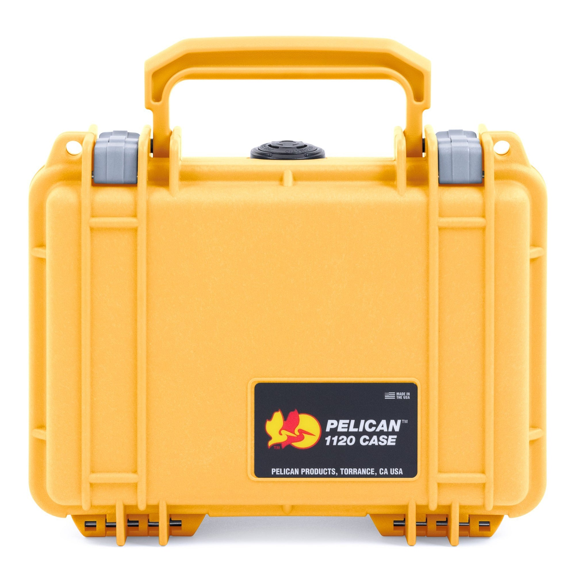 Pelican 1120 Case, Yellow with Silver Latches - Pelican Color Case