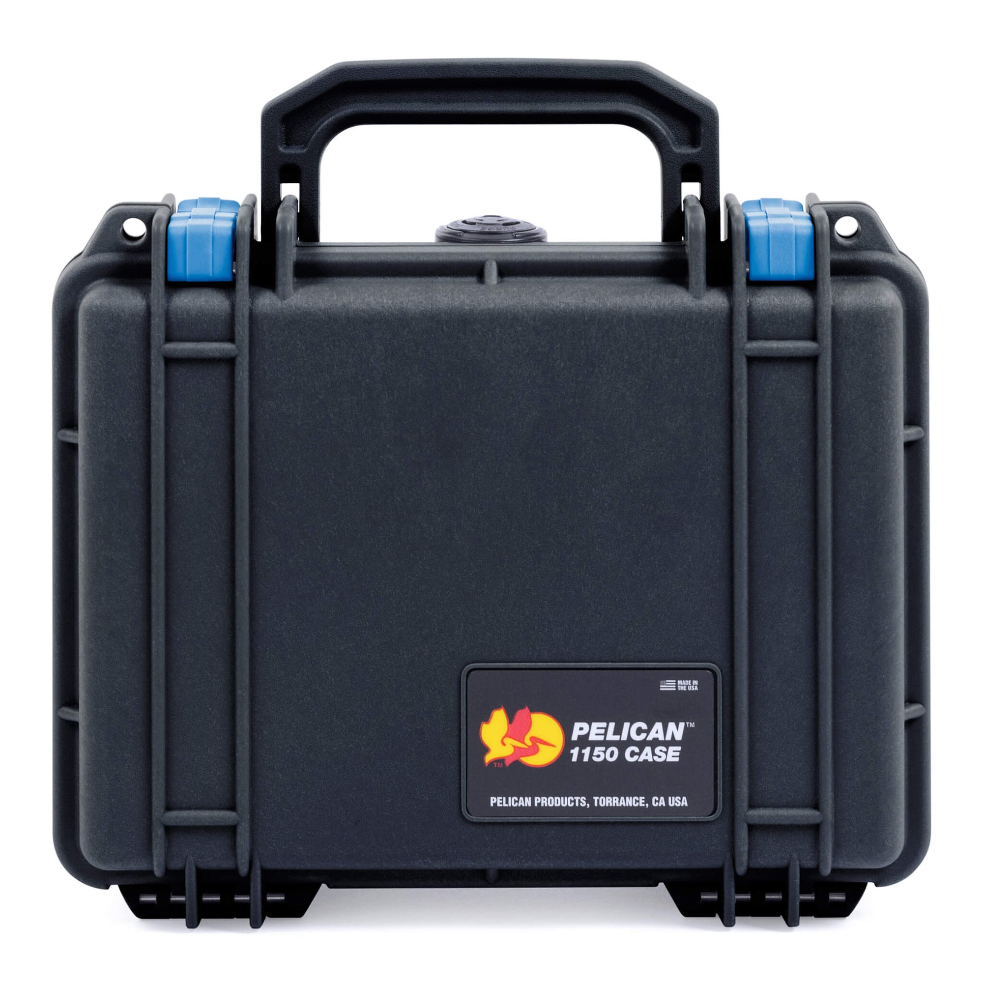 Pelican 1150 Case, Black with Blue Latches - Pelican Color Case