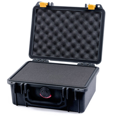 Pelican 1150 Case, Black with Yellow Latches - Pelican Color Case