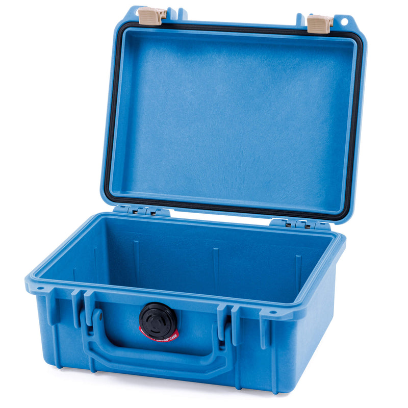 Pelican 1150 Case, Blue with Desert Tan Latches - Pelican Color Case