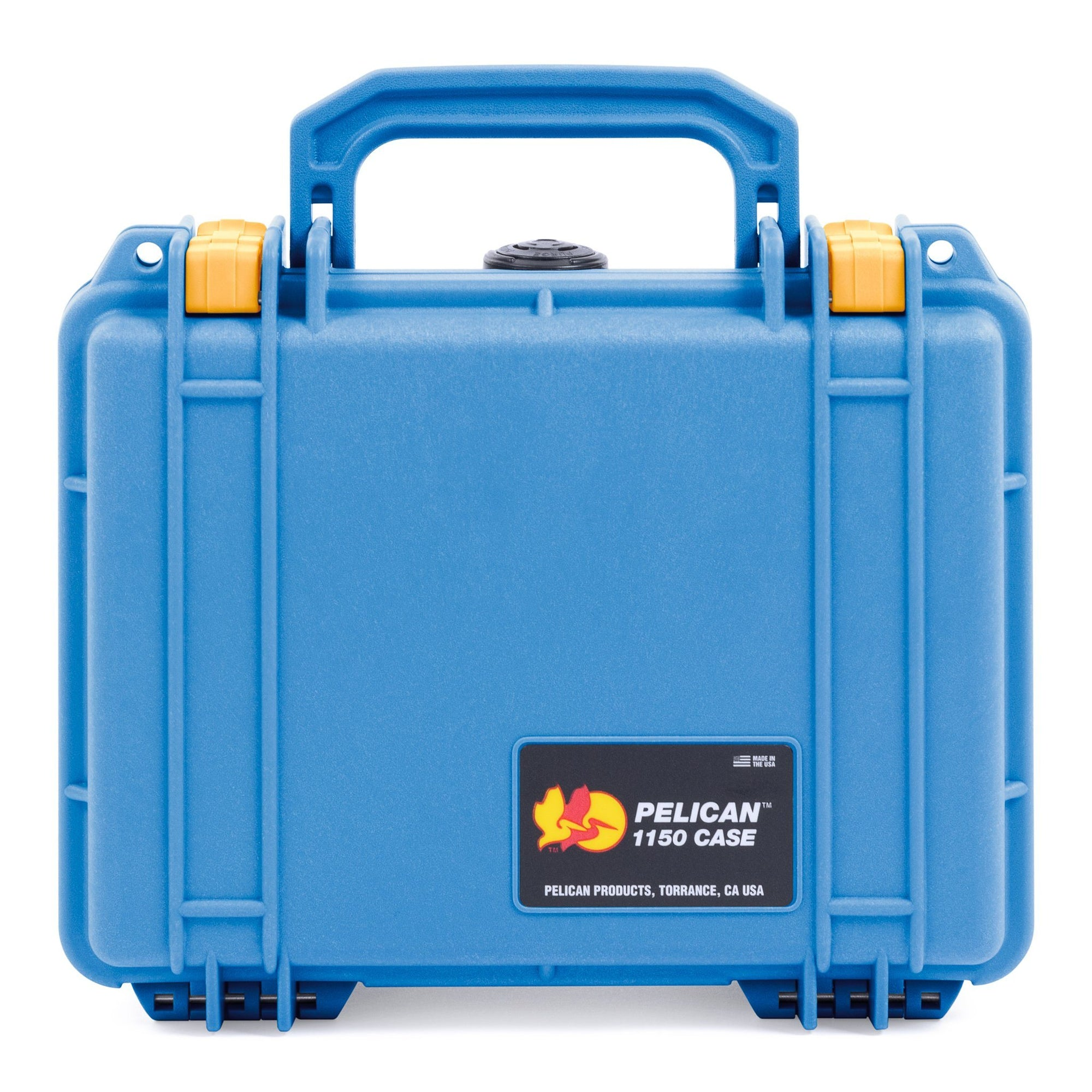 Pelican 1150 Case, Blue with Yellow Latches - Pelican Color Case