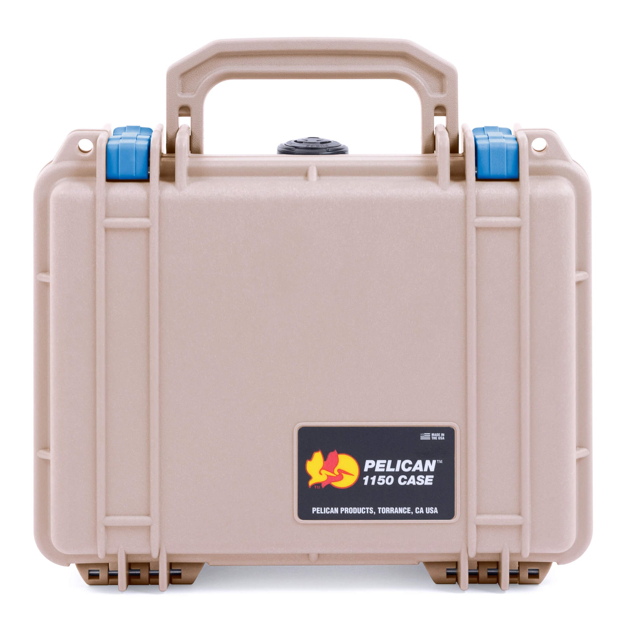 Pelican 1150 Case, Desert Tan with Blue Latches - Pelican Color Case