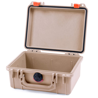 Pelican 1150 Case, Desert Tan with Orange Latches - Pelican Color Case