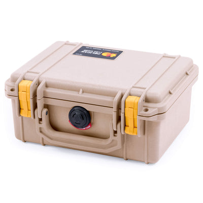 Pelican 1150 Case, Desert Tan with Yellow Latches - Pelican Color Case