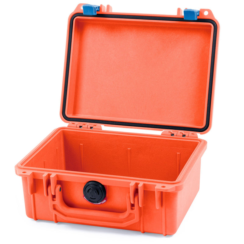 Pelican 1150 Case, Orange with Blue Latches - Pelican Color Case