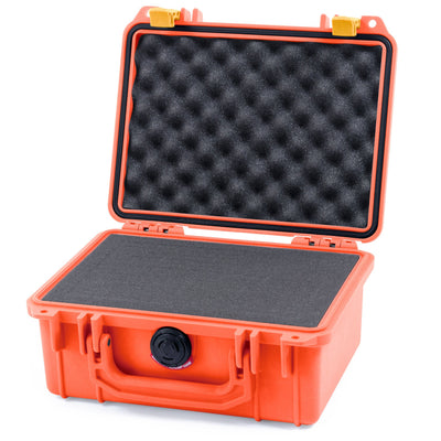 Pelican 1150 Case, Orange with Yellow Latches - Pelican Color Case