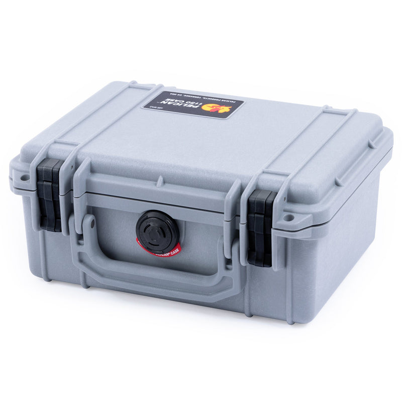 Pelican 1150 Case, Silver with Black Latches - Pelican Color Case