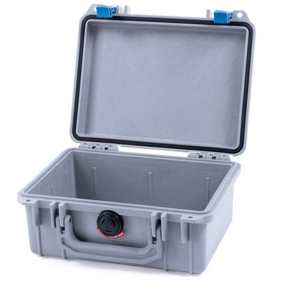 Pelican 1150 Case, Silver with Blue Latches - Pelican Color Case