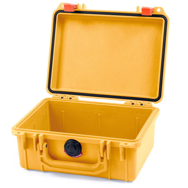 Pelican 1150 Case, Yellow with Orange Latches - Pelican Color Case