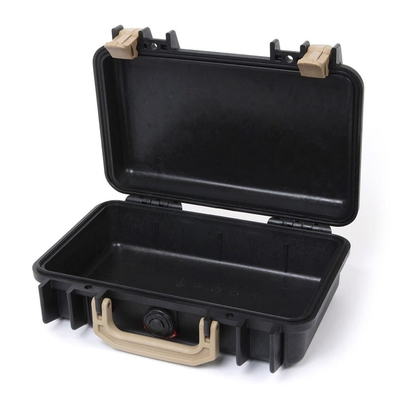 Pelican 1170 Case, Black with Desert Tan Handle & Latches - Pelican Color Case