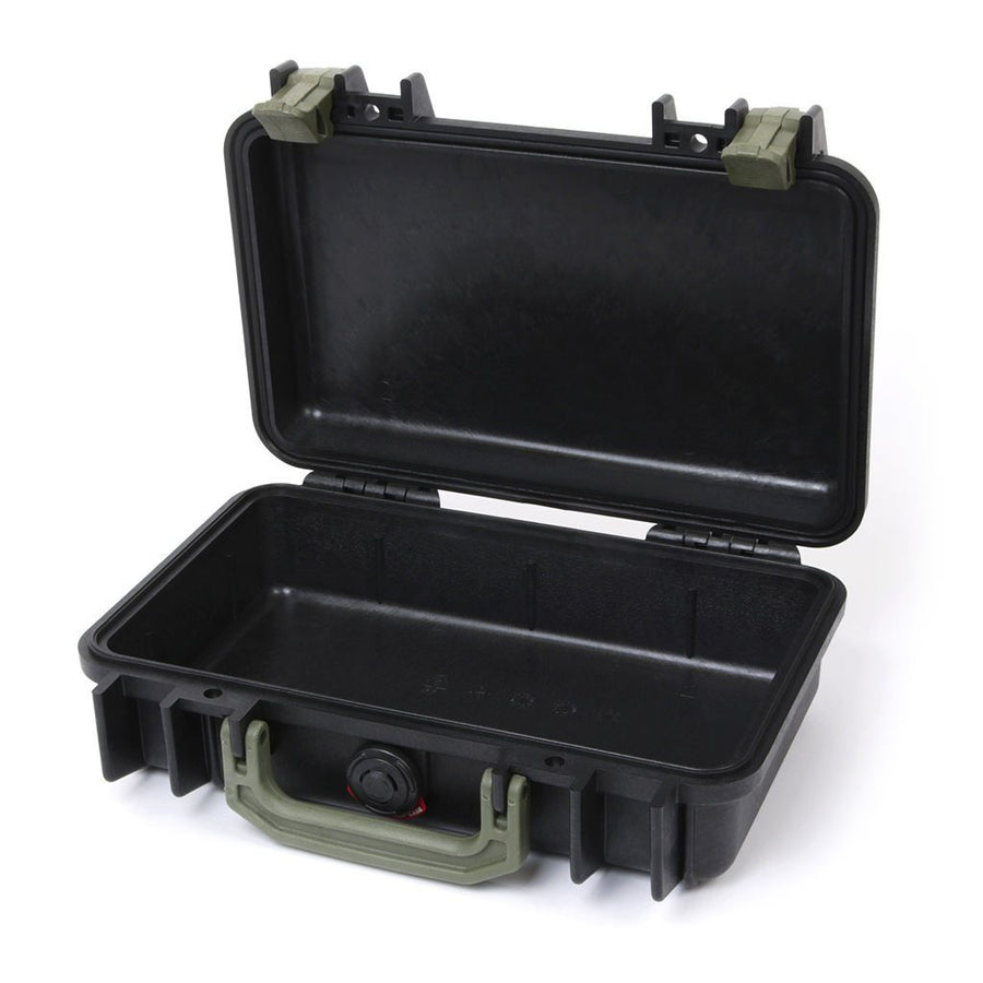 Pelican 1170 Colors Series, Black Protector Case with OD Green Handle & Latches, Customizable Accessory Bundles