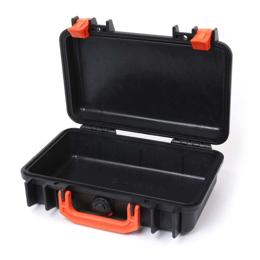 Pelican 1170 Colors Series, Black Protector Case with Orange Handle & Latches, Customizable Accessory Bundles