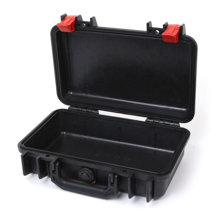 Pelican 1170 Colors Series, Black Protector Case with Red Latches, Customizable Accessory Bundles