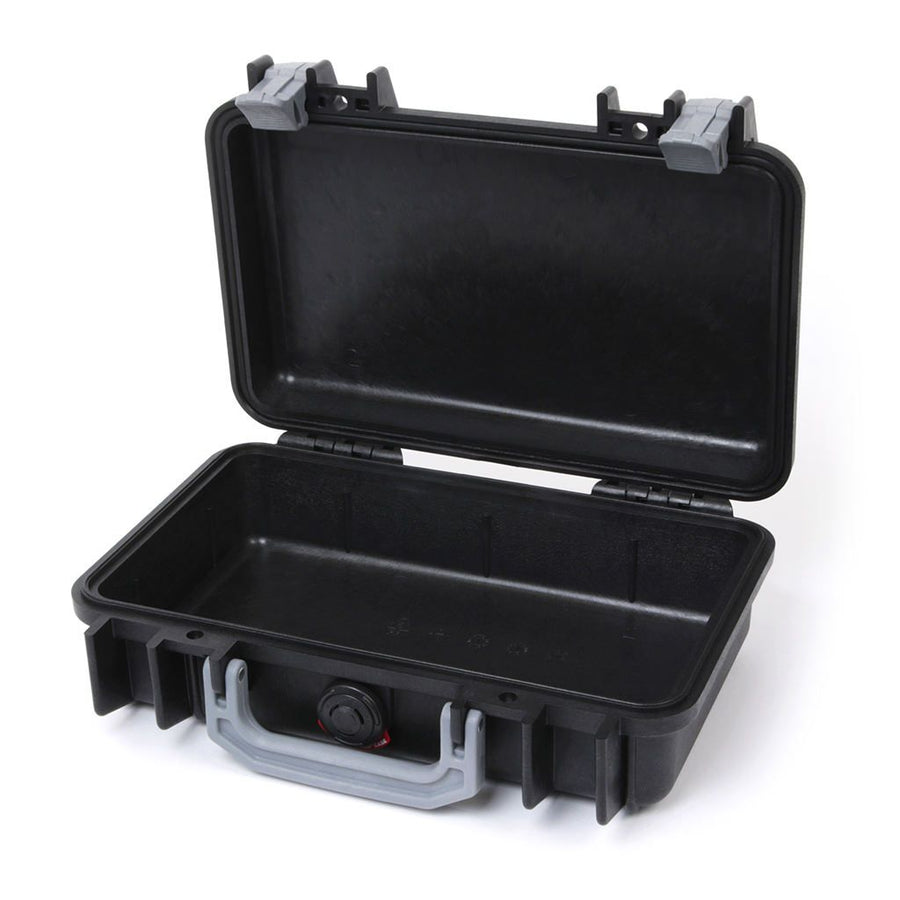 Pelican 1170 Colors Series, Black Protector Case with Silver Gray Handle & Latches, Customizable Accessory Bundles - Pelican Color Case