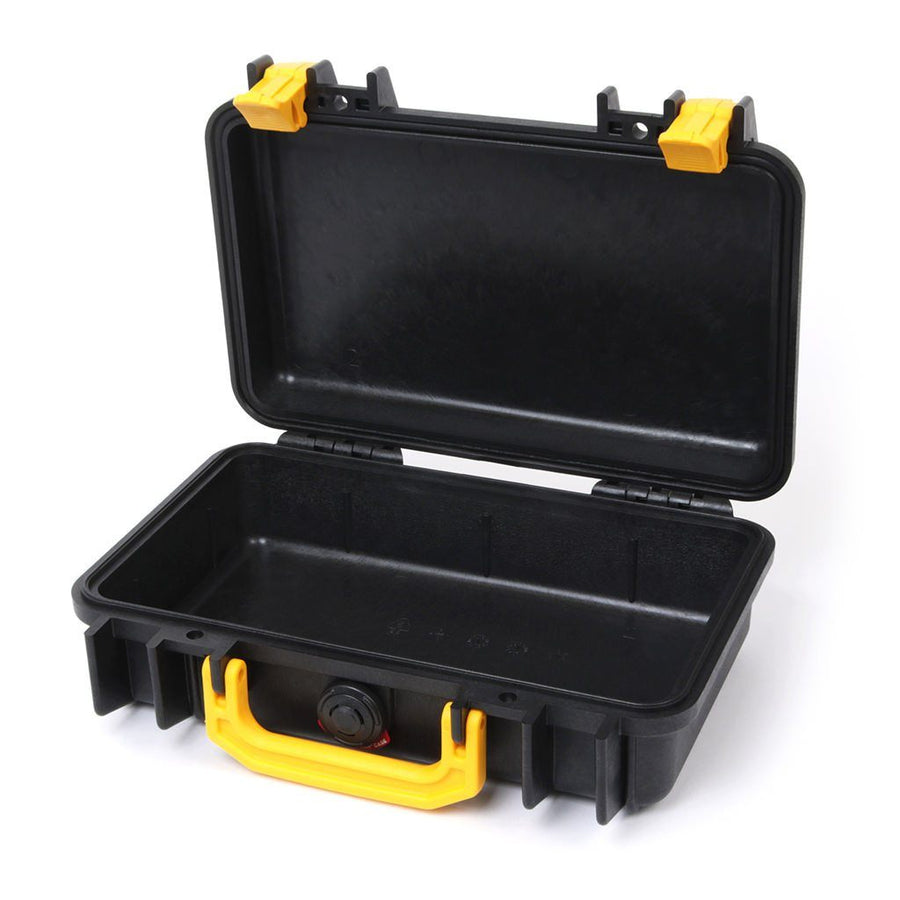 Pelican 1170 Colors Series, Black Protector Case with Yellow Handle & Latches, Customizable Accessory Bundles