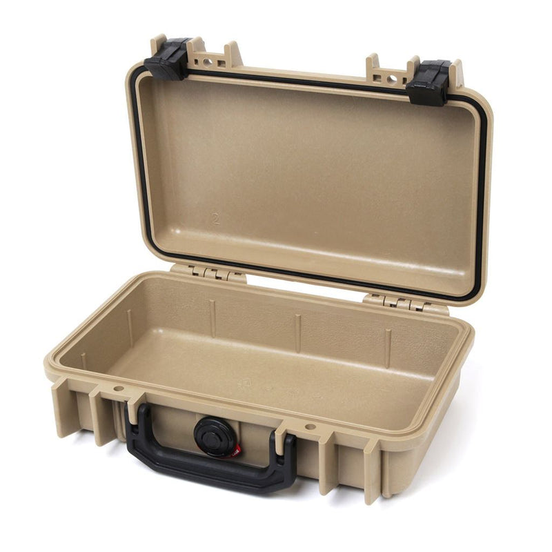 Pelican 1170 Colors Series, Desert Tan Protector Case with Black Handle & Latches, Customizable Accessory Bundles - Pelican Color Case