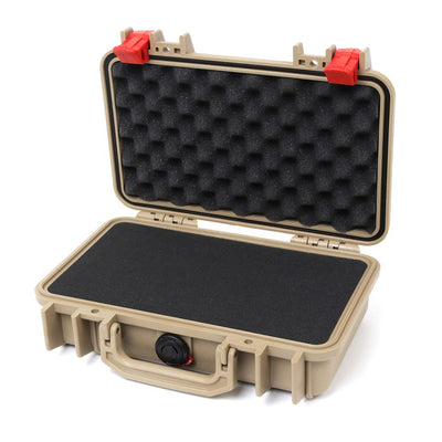 Pelican 1170 Case, Desert Tan with Red Latches - Pelican Color Case