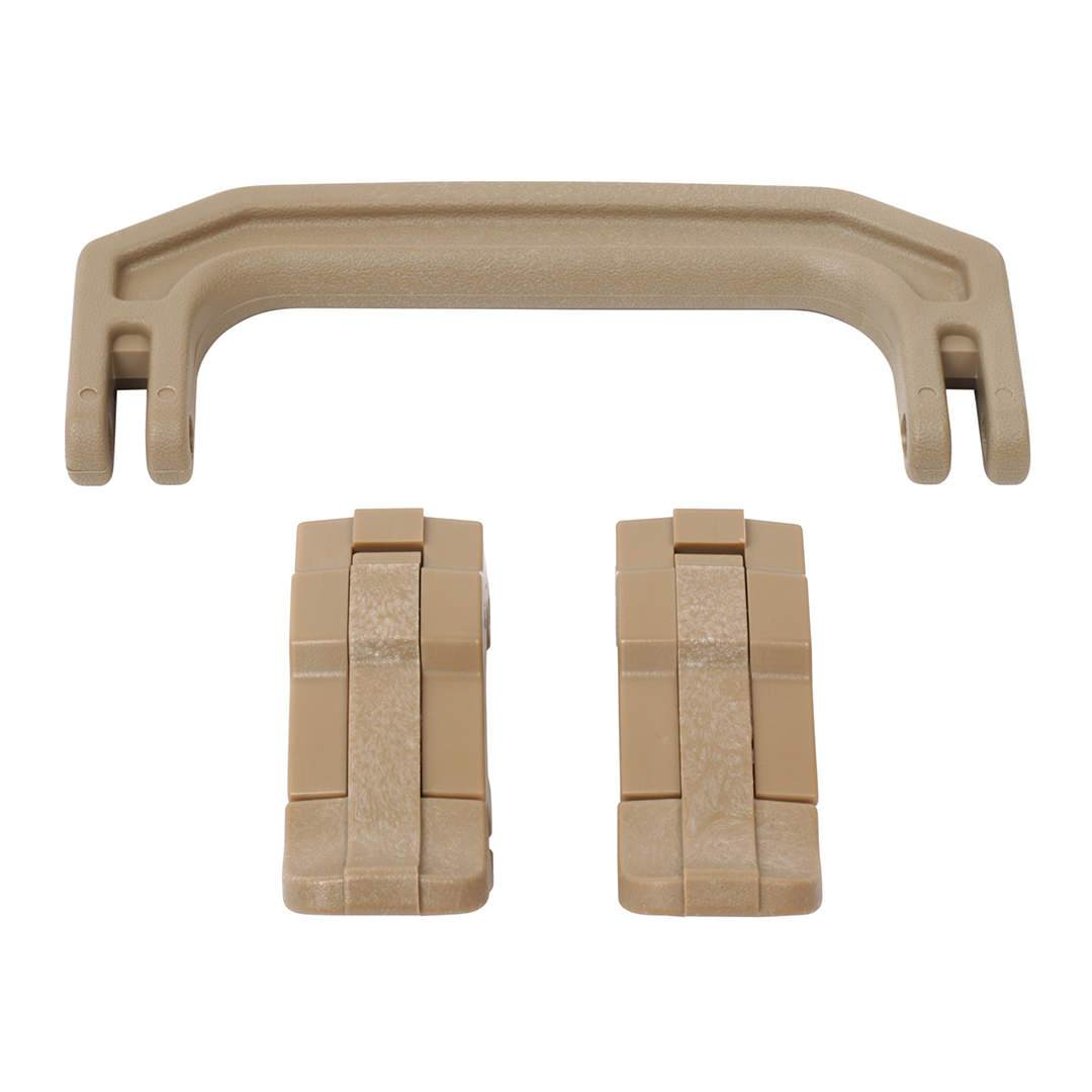 Desert Tan Replacement Handle & Latches for Pelican 1170, One Desert Tan Handle, 2 Desert Tan Latches - Pelican Color Case