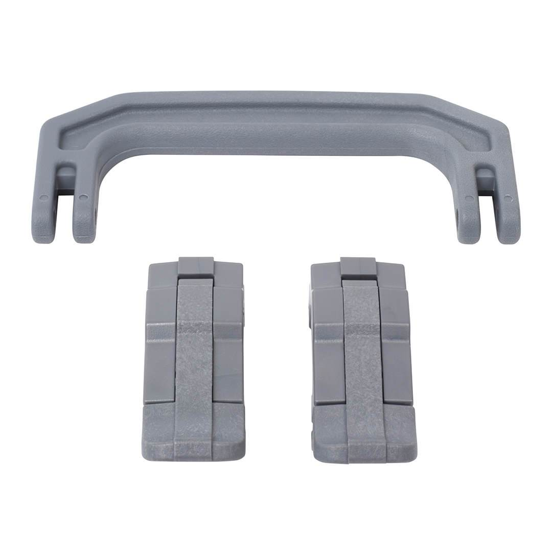 Silver Gray Replacement Handle & Latches for Pelican 1170, One Silver Gray Handle, 2 Silver Gray Latches - Pelican Color Case