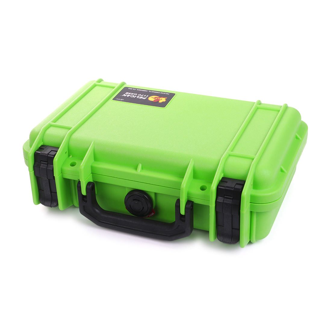 Pelican 1170 Colors Series, Lime Green Protector Case with Black Handle & Latches, Customizable Accessory Bundles