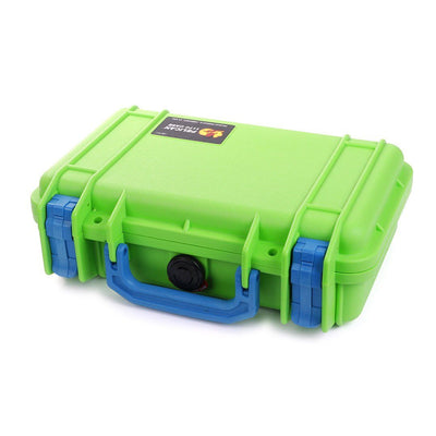 Pelican 1170 Case, Lime Green with Blue Handle & Latches - Pelican Color Case