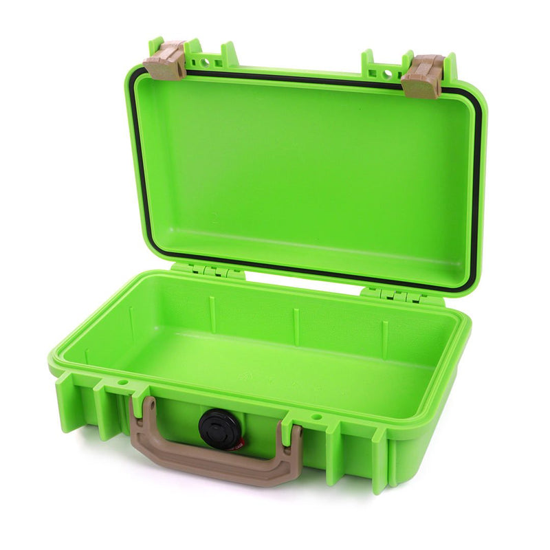 Pelican 1170 Case, Lime Green with Desert Tan Handle & Latches - Pelican Color Case