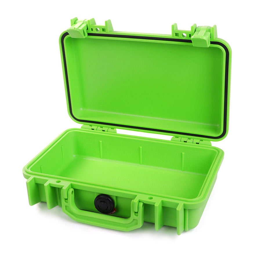 Pelican 1170 Colors Series, Lime Green Protector Case with Lime Green Handle & Latches, Customizable Accessory Bundles - Pelican Color Case