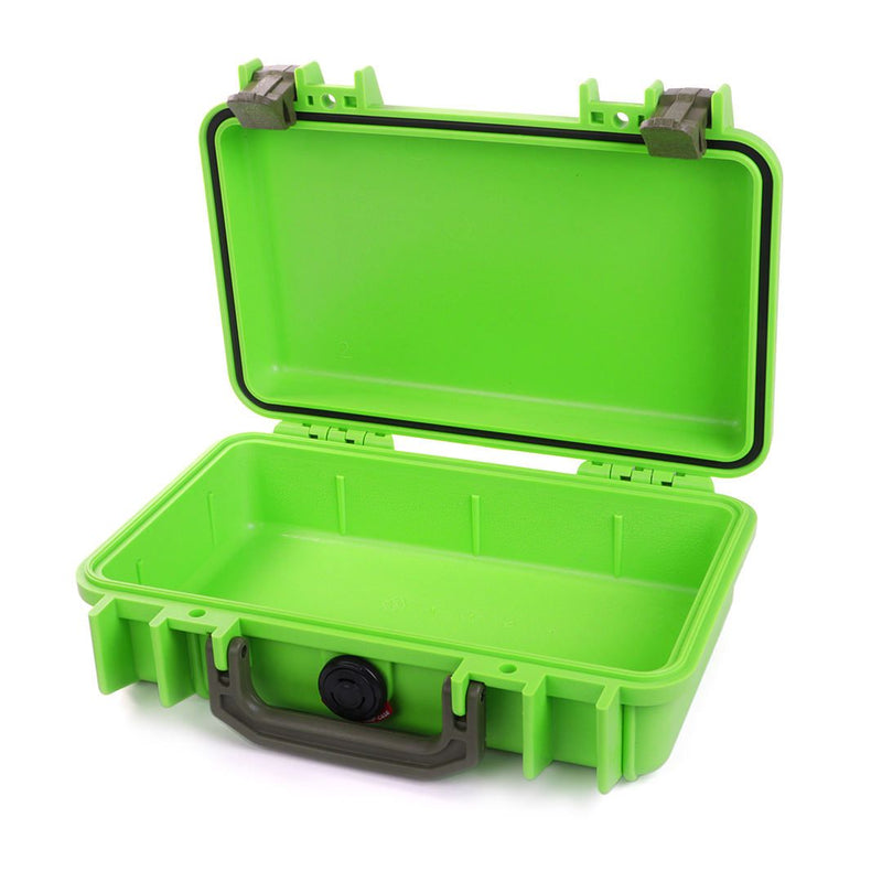 Pelican 1170 Case, Lime Green with OD Green Handle & Latches - Pelican Color Case