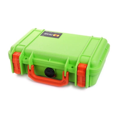 Pelican 1170 Case, Lime Green with Orange Handle & Latches - Pelican Color Case