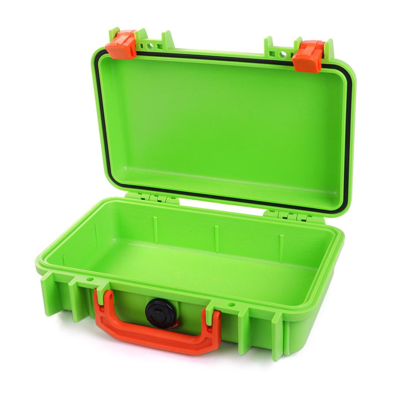 Pelican 1170 Colors Series, Lime Green Protector Case with Orange Handle & Latches, Customizable Accessory Bundles - Pelican Color Case
