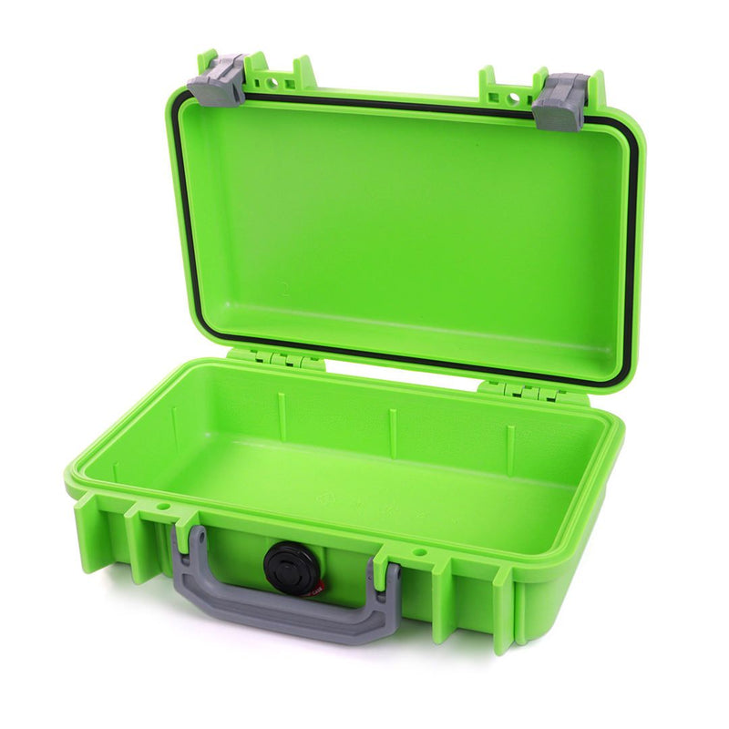 Pelican 1170 Case, Lime Green with Silver Handle & Latches - Pelican Color Case