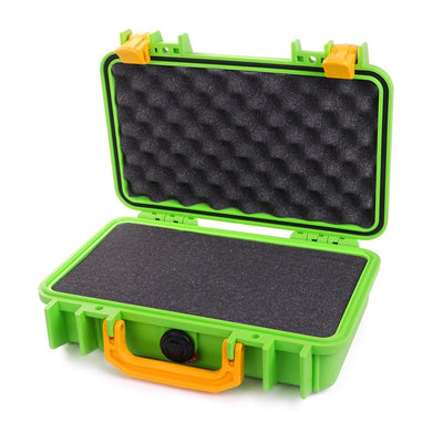 Pelican 1170 Colors Series, Lime Green Protector Case with Yellow Handle & Latches, Customizable Accessory Bundles - Pelican Color Case