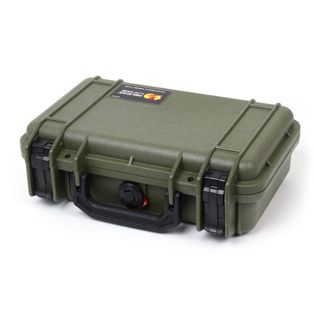 Pelican 1170 Case, OD Green with Black Handle & Latches - Pelican Color Case