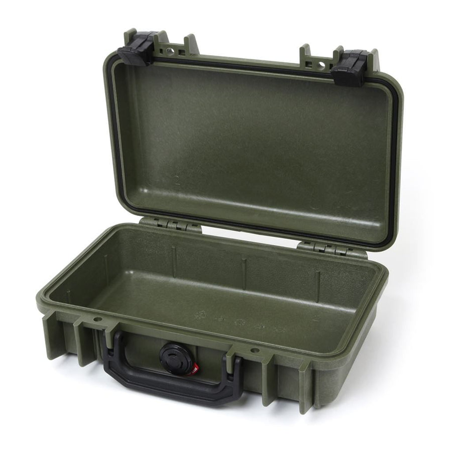 Pelican 1170 Colors Series, OD Green Protector Case with Black Handle & Latches, Customizable Accessory Bundles