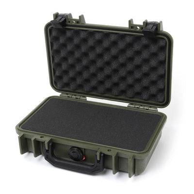 Pelican 1170 Colors Series, OD Green Protector Case with Black Handle & Latches, Customizable Accessory Bundles - Pelican Color Case