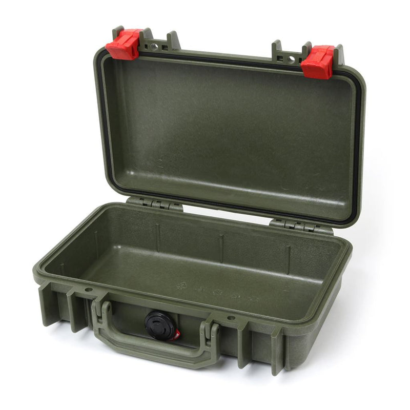 Pelican 1170 Case, OD Green with Red Latches - Pelican Color Case