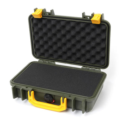 Pelican 1170 Case, OD Green with Yellow Handle & Latches - Pelican Color Case