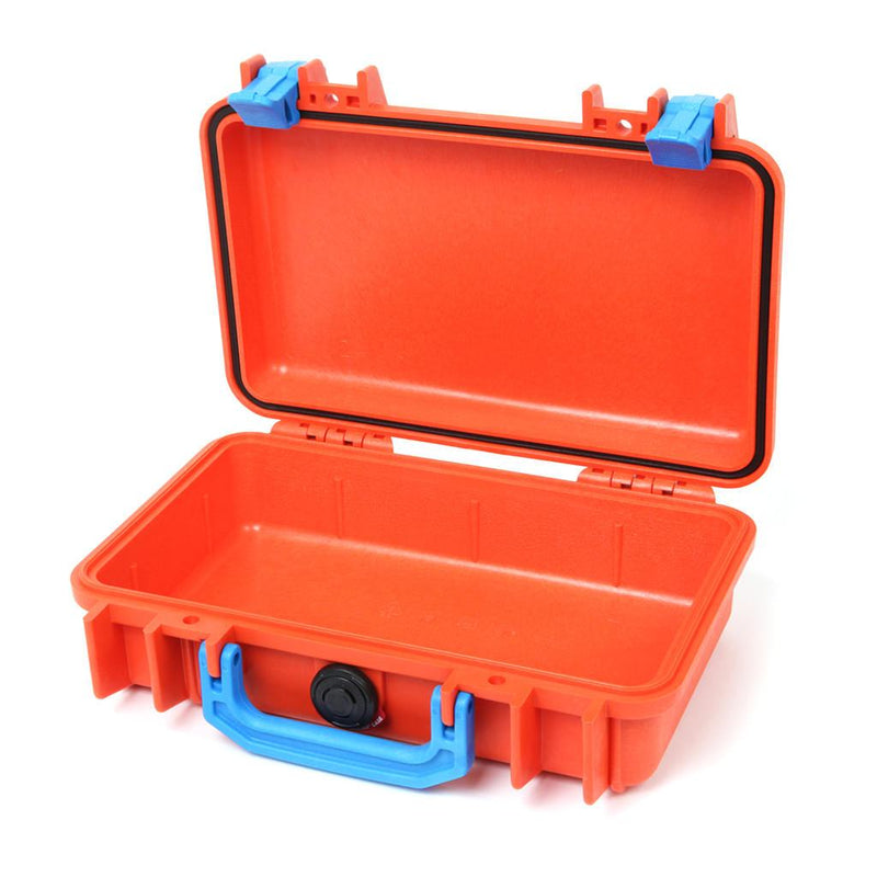 Pelican 1170 Case, Orange with Blue Handle & Latches - Pelican Color Case