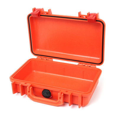 Pelican 1170 Colors Series, Orange Protector Case with Red Latches, Customizable Accessory Bundles - Pelican Color Case