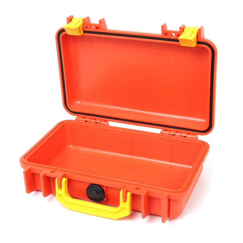 Pelican 1170 Case, Orange with Yellow Handle & Latches - Pelican Color Case