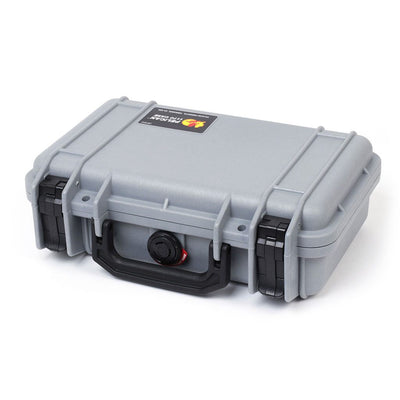 Pelican 1170 Colors Series, Silver Gray Protector Case with Black Handle & Latches, Customizable Accessory Bundles - Pelican Color Case