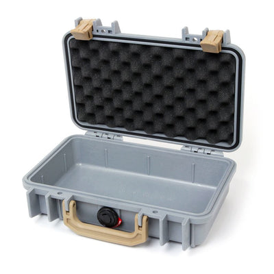 Pelican 1170 Case, Silver with Desert Tan Handle & Latches - Pelican Color Case