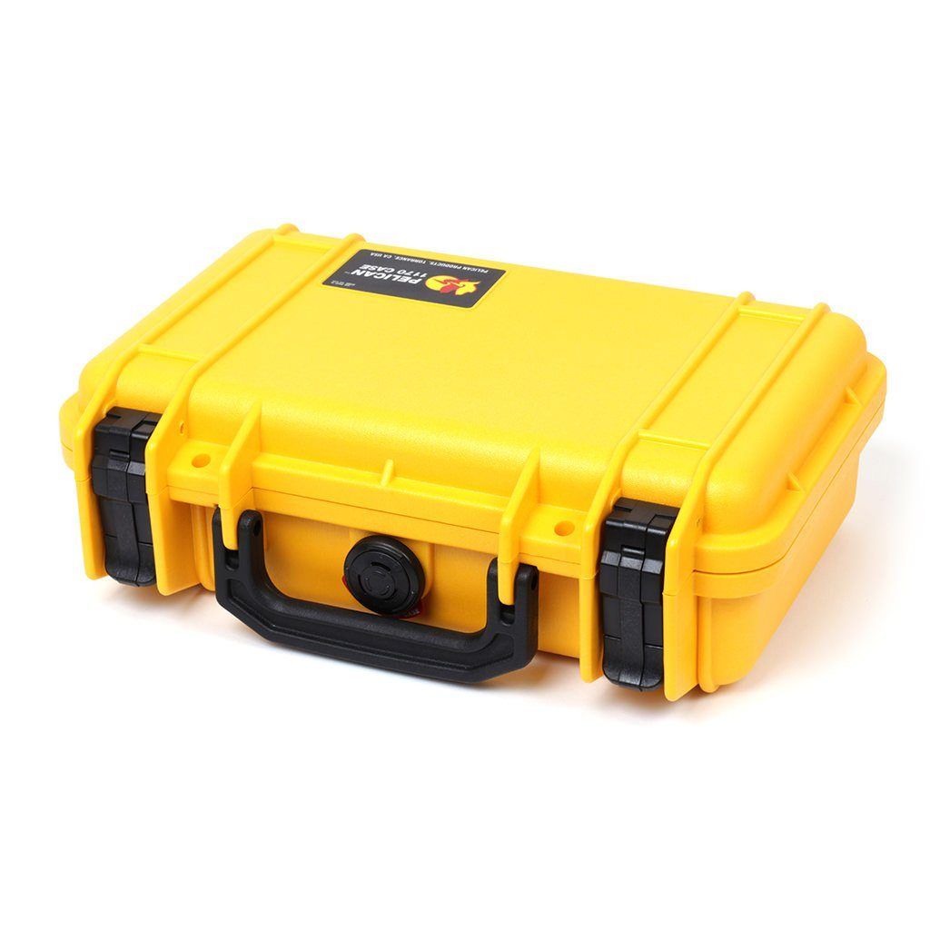 Pelican 1170 Colors Series, Yellow Protector Case with Black Handle & Latches, Customizable Accessory Bundles