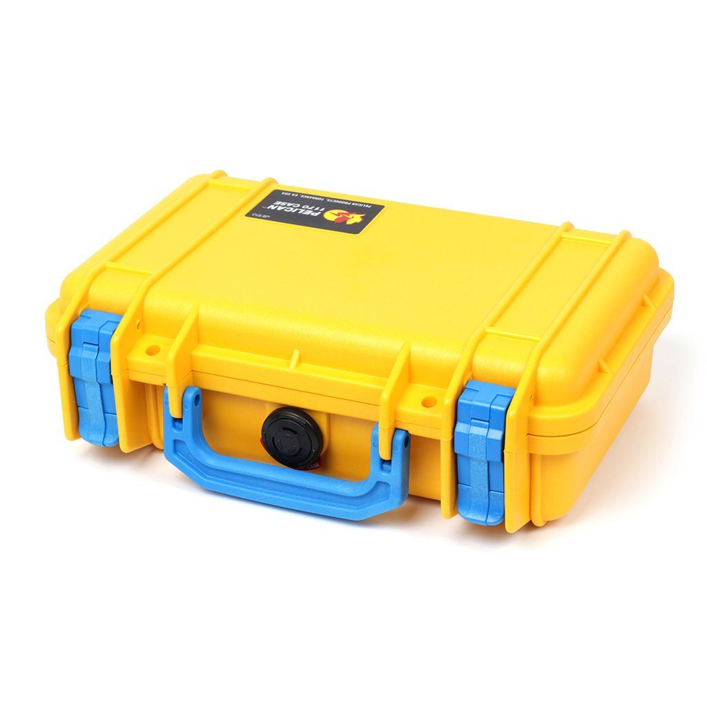 Pelican 1170 Case, Yellow with Blue Handle & Latches