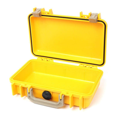 Pelican 1170 Case, Yellow with Desert Tan Handle & Latches - Pelican Color Case