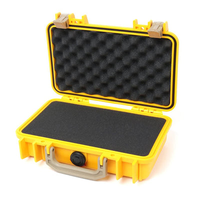 Pelican 1170 Colors Series, Yellow Protector Case with Desert Tan Handle & Latches, Customizable Accessory Bundles - Pelican Color Case