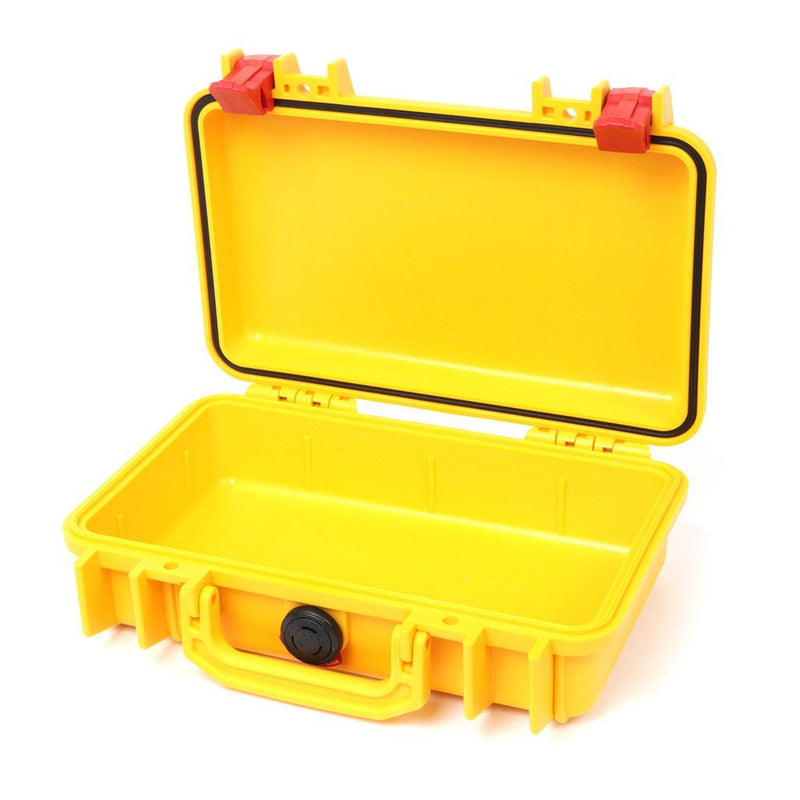 Pelican 1170 Case, Yellow with Red Latches - Pelican Color Case