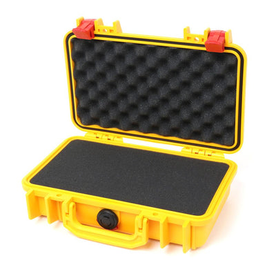 Pelican 1170 Colors Series, Yellow Protector Case with Red Latches, Customizable Accessory Bundles - Pelican Color Case